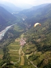 paragliding over the Soca